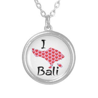 Colar Banhado A Prata Mim coração Bali