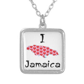 Colar Banhado A Prata Mim coração Jamaica