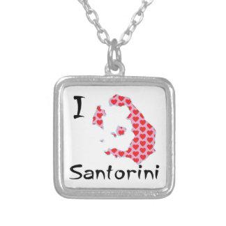 Colar Banhado A Prata Mim coração Santorini