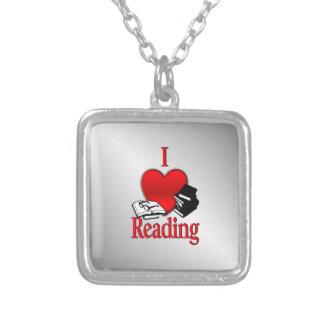 Colar Banhado A Prata Mim leitura do coração