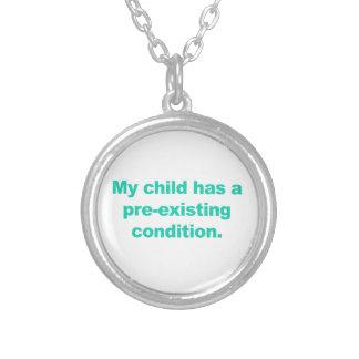 Colar Banhado A Prata Minha criança tem uma circunstância pre-existente