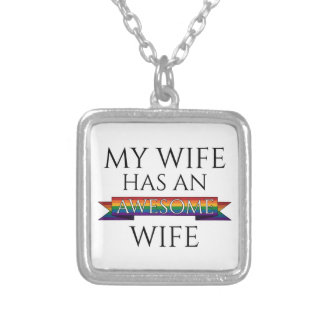 Colar Banhado A Prata Minha esposa tem uma esposa impressionante