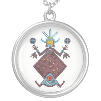 Colar Banhado A Prata Mitologia do Navajo