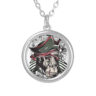 Colar Banhado A Prata monkey o design bonito do pirata