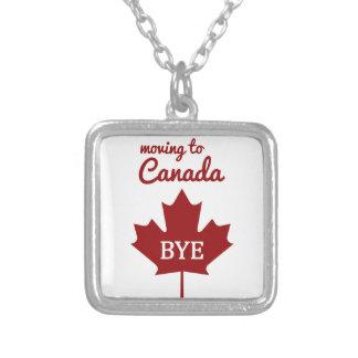 Colar Banhado A Prata Mover-se para Canadá