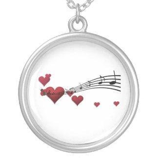 Colar Banhado A Prata música do amor