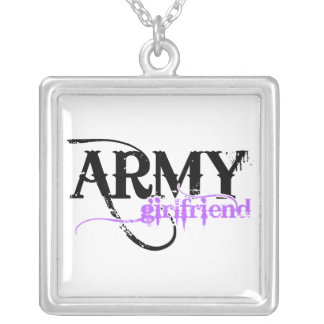 Colar Banhado A Prata Namorada do exército