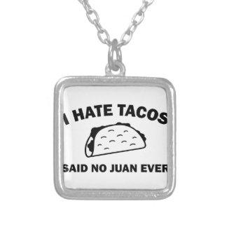 Colar Banhado A Prata Não disse nenhum Juan nunca