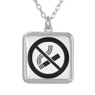 Colar Banhado A Prata Não fumadores