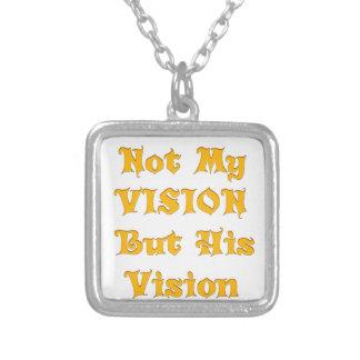 Colar Banhado A Prata Não minha visão mas sua visão