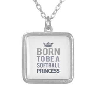 Colar Banhado A Prata Nascer a ser uma princesa do voleibol
