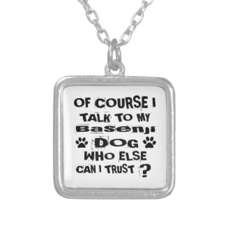 Colar Banhado A Prata Naturalmente eu falo a meu design do cão de