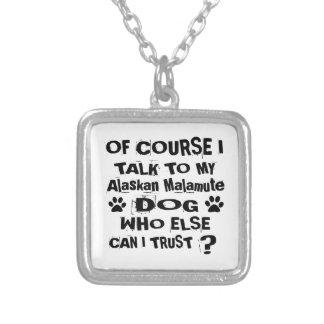 Colar Banhado A Prata Naturalmente eu falo a meu design do cão do