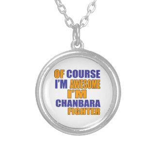 Colar Banhado A Prata Naturalmente eu sou lutador de Chanbara