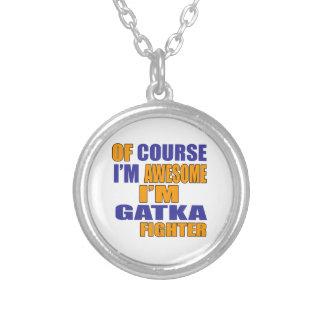Colar Banhado A Prata Naturalmente eu sou lutador de Gatka