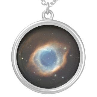 Colar Banhado A Prata Nebulosa do olho dos deuses
