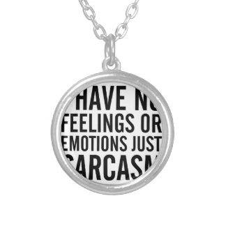 Colar Banhado A Prata Nenhumas sentimentos ou emoções