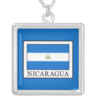 Colar Banhado A Prata Nicarágua