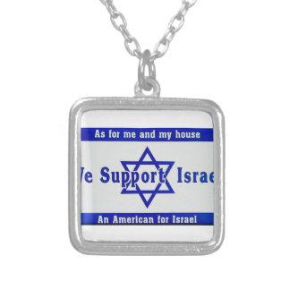 Colar Banhado A Prata Nós apoiamos Israel