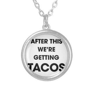 Colar Banhado A Prata Nós estamos obtendo o Tacos