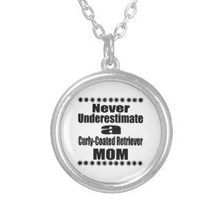 Colar Banhado A Prata Nunca subestime mamã Encaracolado-Revestida do