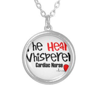 Colar Banhado A Prata Nutra o whisperer do coração