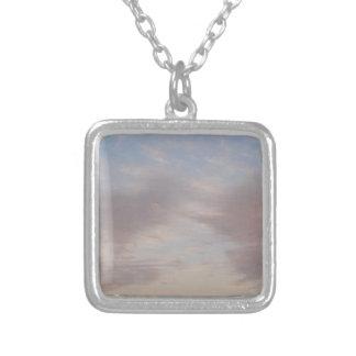 Colar Banhado A Prata Nuvens coloridas