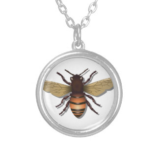 Colar Banhado A Prata O amarelo customizável Bumble a abelha