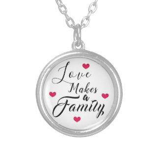 Colar Banhado A Prata O amor faz uma família - adopção da assistência