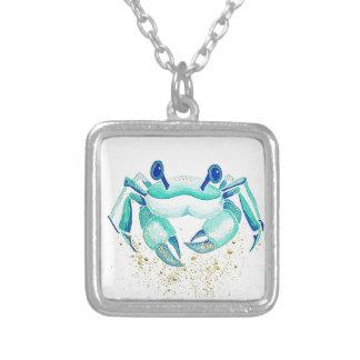 Colar Banhado A Prata O caranguejo de Netuno