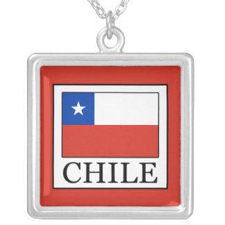Colar Banhado A Prata O Chile