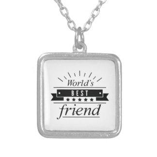 Colar Banhado A Prata O melhor amigo do mundo