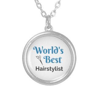Colar Banhado A Prata O melhor cabeleireiro do mundo