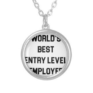 Colar Banhado A Prata O melhor empregado do nível básico