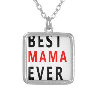 Colar Banhado A Prata O melhor Mama Nunca (3)