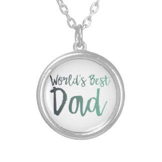 Colar Banhado A Prata O melhor pai do mundo
