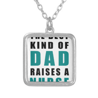 Colar Banhado A Prata o melhor tipo do pai aumenta uma enfermeira