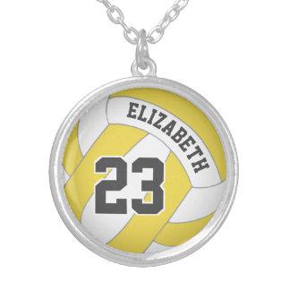 Colar Banhado A Prata o nome do jogador/número do jérsei ALGUM voleibol