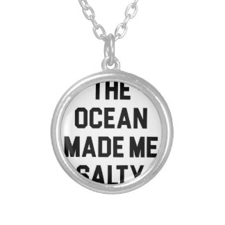 Colar Banhado A Prata O oceano fez-me salgado