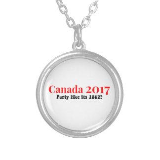 Colar Banhado A Prata O partido de Canadá 150 em 2017 gosta de 1867