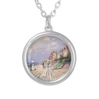 Colar Banhado A Prata O passeio à beira mar em Trouville Claude Monet
