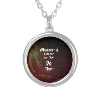 Colar Banhado A Prata O que bom para suas citações inspiradores da alma