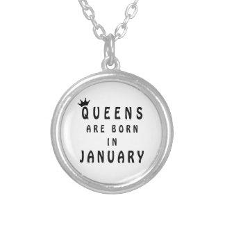 Colar Banhado A Prata O Queens é nascido em janeiro