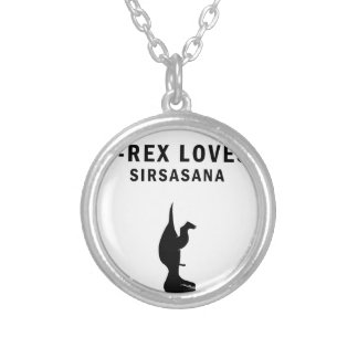 Colar Banhado A Prata o t-rex ama o sirsasaniana