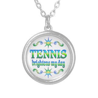 Colar Banhado A Prata O tênis ilumina