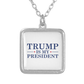 Colar Banhado A Prata O trunfo é meu presidente