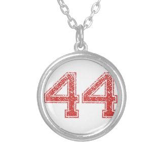 Colar Banhado A Prata O vermelho ostenta Jerzee número 44