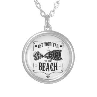Colar Banhado A Prata Obtenha sua cauda à praia