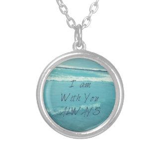 Colar Banhado A Prata Oceano inspirado do verso da bíblia - eu sou com