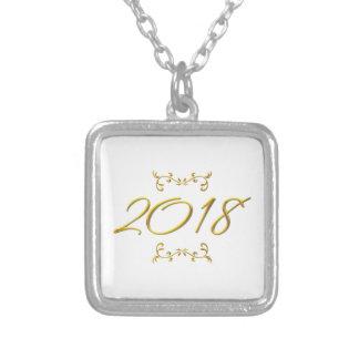 Colar Banhado A Prata Olhar 3-D dourado 2018